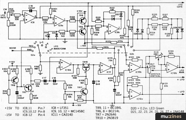 The Spectrum Synthesiser Emm May 81. Circuit Diagram Of The Low Frequency Oscillator. Wiring. Spectrum Dc Drive Wiring Diagram At Scoala.co