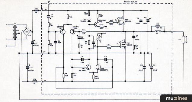 Class A Mosfet Amplifier Schematic