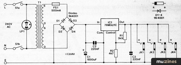 Circuit Diagram Of Battery Eliminator | Starting Point Emm Sep 81