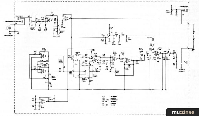 Drum Synth Schematic