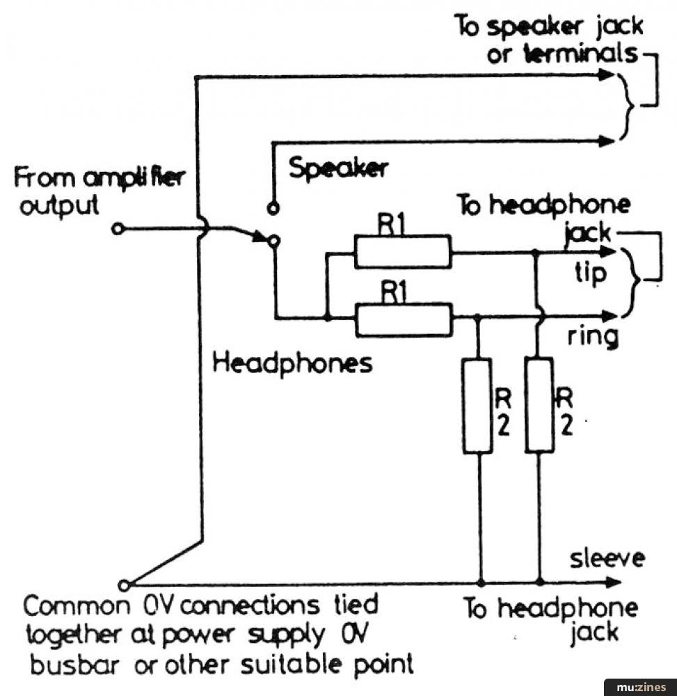 Speaker Output Jack Wiring Speaker Circuit Diagrams