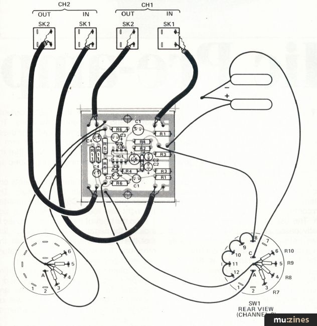 dual mic pre amp es apr 84 fig 2 component overlay and switch wiring