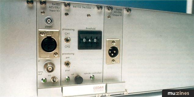 CEDAR/Harmonia Mundi Real-Time De-Clicker (MT Aug 91)