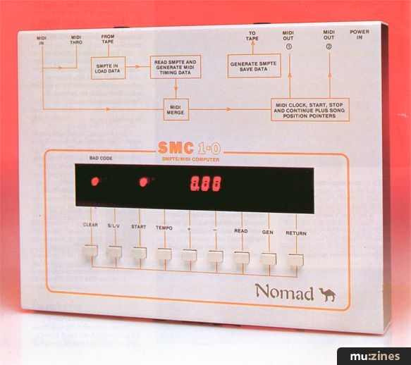 Nomad SMC 1 0 SMPTE/MIDI controller (SOS May 87)