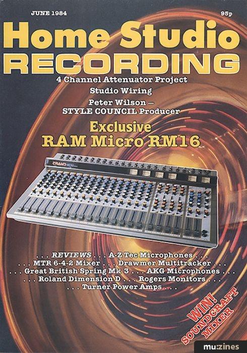 Home & Studio Recording, Jun 1984 Contents D E Microphone Wiring Diagram on