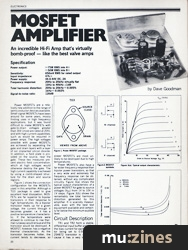 mosfet amplifier emm jun 81. Black Bedroom Furniture Sets. Home Design Ideas