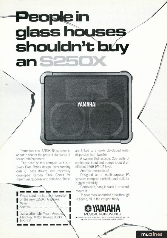 Ad - Yamaha S250X (EMM Feb 85)