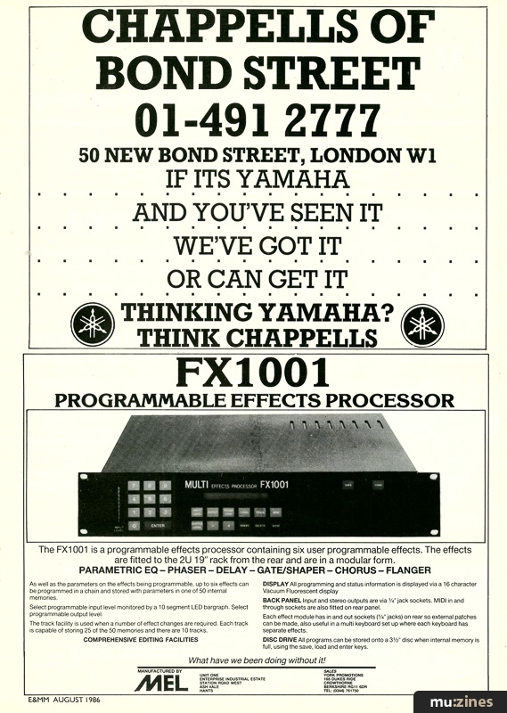 Ad Multi Enterprises Ltd Fx1001 Emm Aug 86