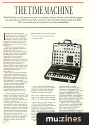 The Time Machine (EMM Aug 86)