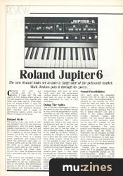 Roland Jupiter 6 (ES Oct 83)