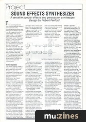 Sound Effects Synth (ES May 84)