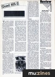 Quad 405-2 Amplifier (HSR Sep 83)