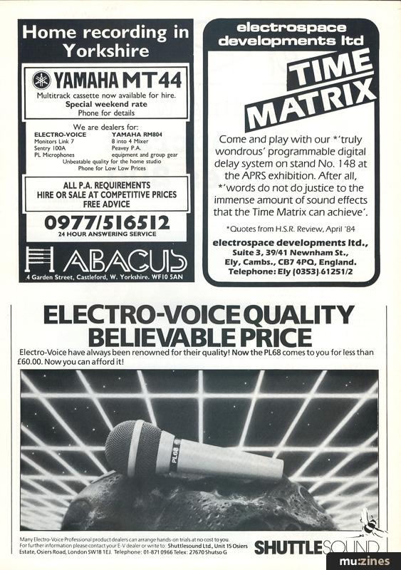 Ad - Electrospace Time Matrix (HSR Jun 84)