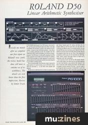Roland D50 Synthesiser (MT Jun 87)