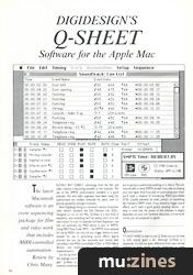 Digidesign\u0027s Q-Sheet (MT Jan 88)