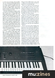 Yamaha SY77 Performance Synthesiser (MT Jan 90)