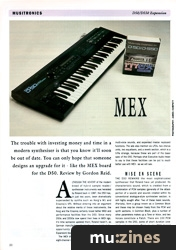 Musictronics MEX D50/D550 Expansion (MT Feb 90)