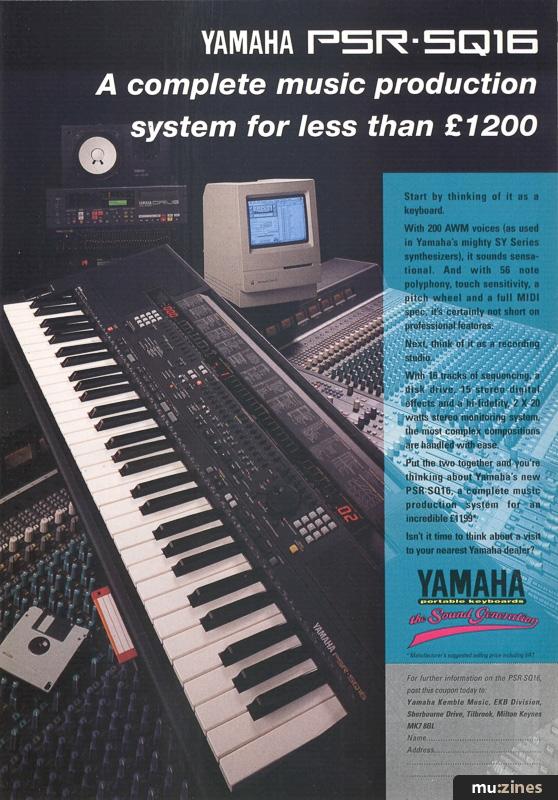 Ad - Yamaha PSR-SQ16 (MT Dec 92)
