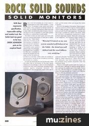 b&w rock solid monitor speakers