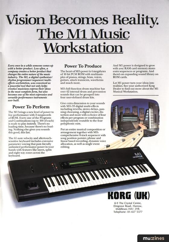 Ad - Korg M1 (SOS Sep 88)