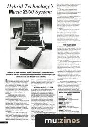 Hybrid Technology Music 2000 System (SOS Oct 88)
